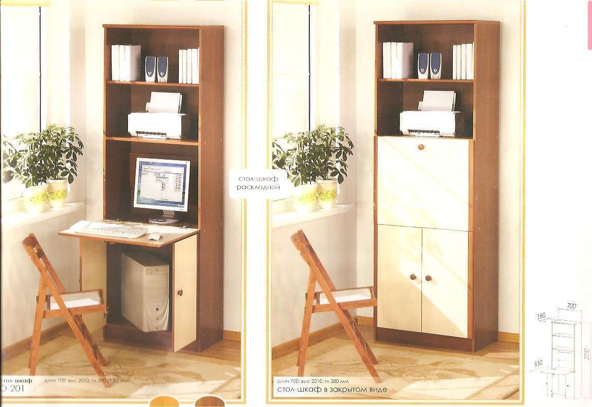 Шкаф с встроенным письменным столом купить.